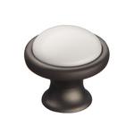 KF07-11 GR Ручка-кнопкаc фарфором, серый