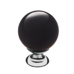 KF10-12 Ручка-кнопка,черное стекло, хром