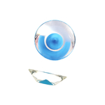 Ручка-кнопка, отделка транспарент + синий 217.896-2400/6604