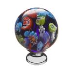 KF11-14 Ручка-кнопка,разноцветное стекло, хром