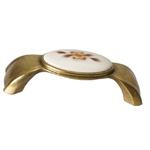 Ручка-скоба 96мм, отделка бронза + керамика MZ.1285