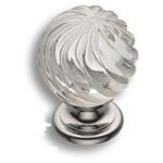 9913-400 Ручка кнопка с кристаллом, глянцевый хром