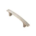Ручка-скоба с кристаллами, 96мм, бронза, 139*15*28 CRL08-96 BA